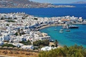 Villa y puerto de Mykonos