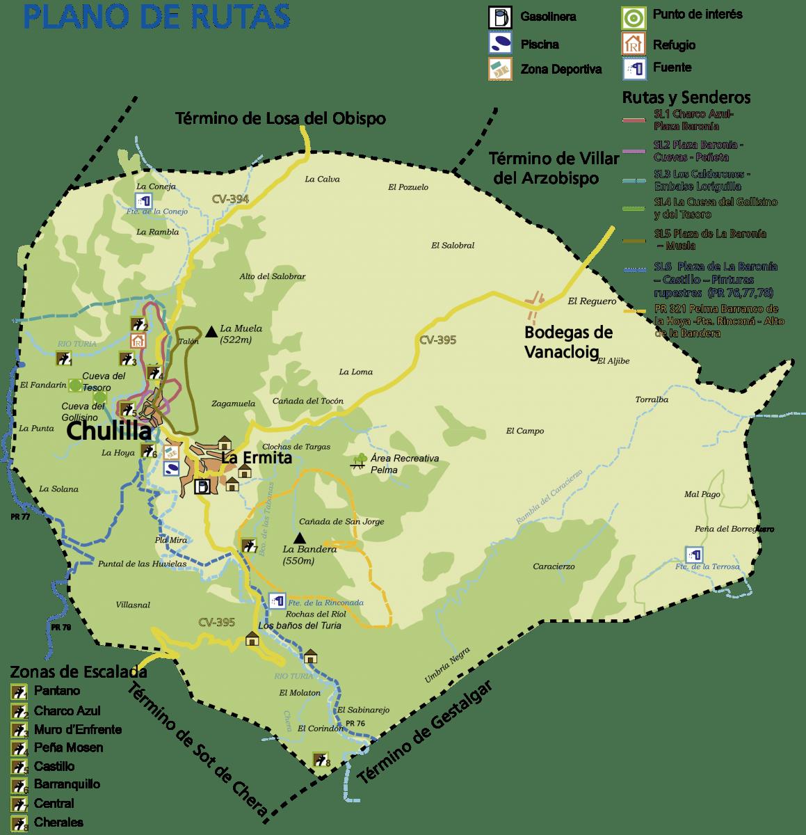 Mapa de Chulilla (www.chulilla.es)