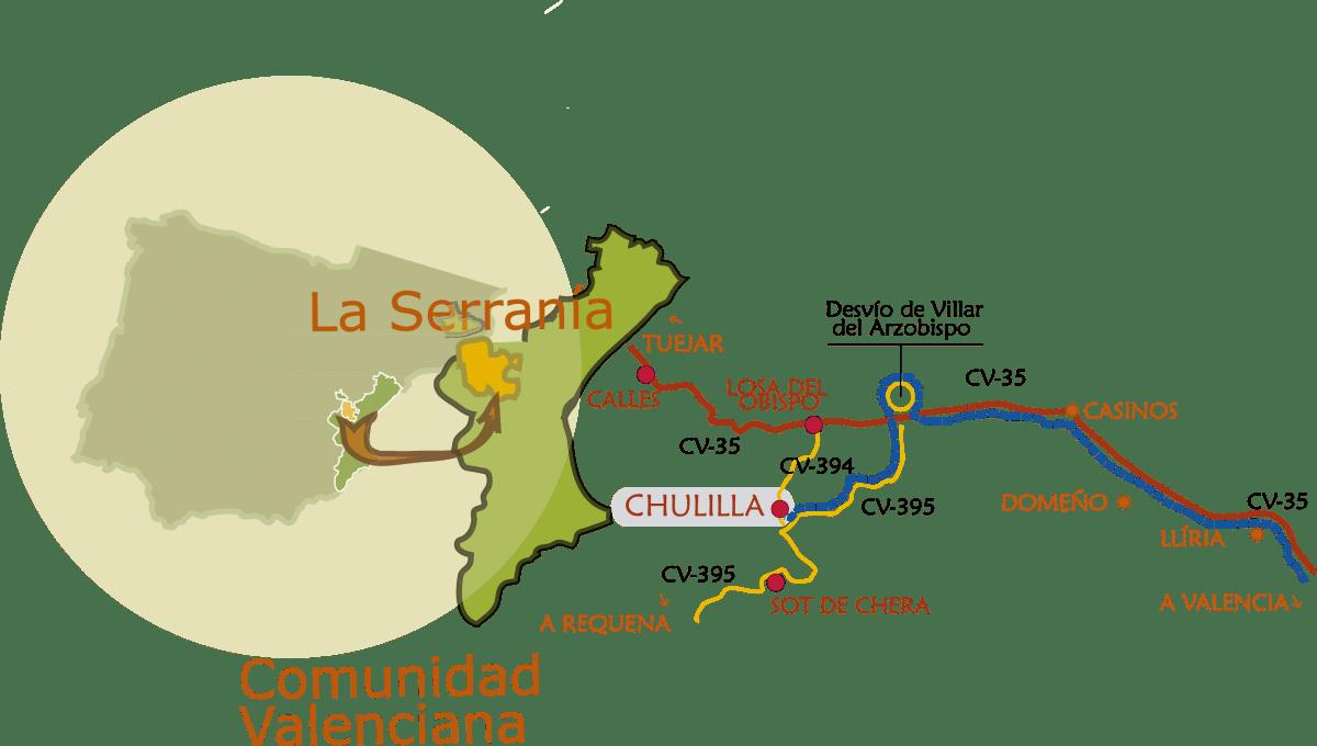 chullilla_ComoLlegar extraido de www.chulilla.es