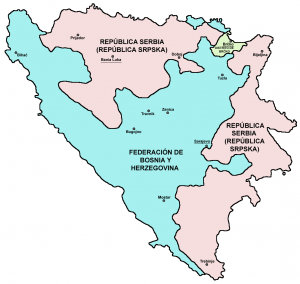 Mapa División de Bosnia y Herzegovina