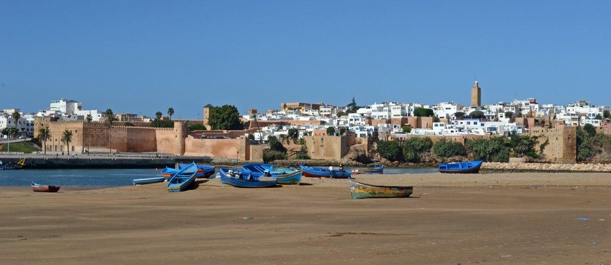 Playa de Salé y Kasbah de los Udayas