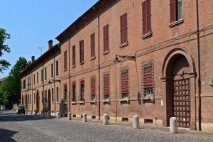 Portada Ferrara. Corso Ercole de Este. Palacios