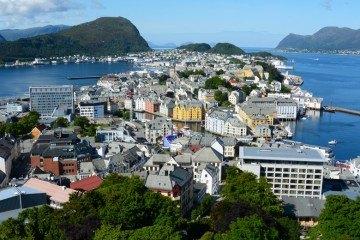 Alesund. Vista desde Mirador Aksla 2