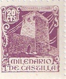 Sello Conmemorativo del Milenario de Castilla con el Torreón de Fernan González