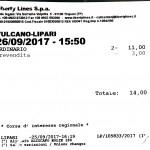 Billete Aliscafo Vulcano-Lipari 09-17
