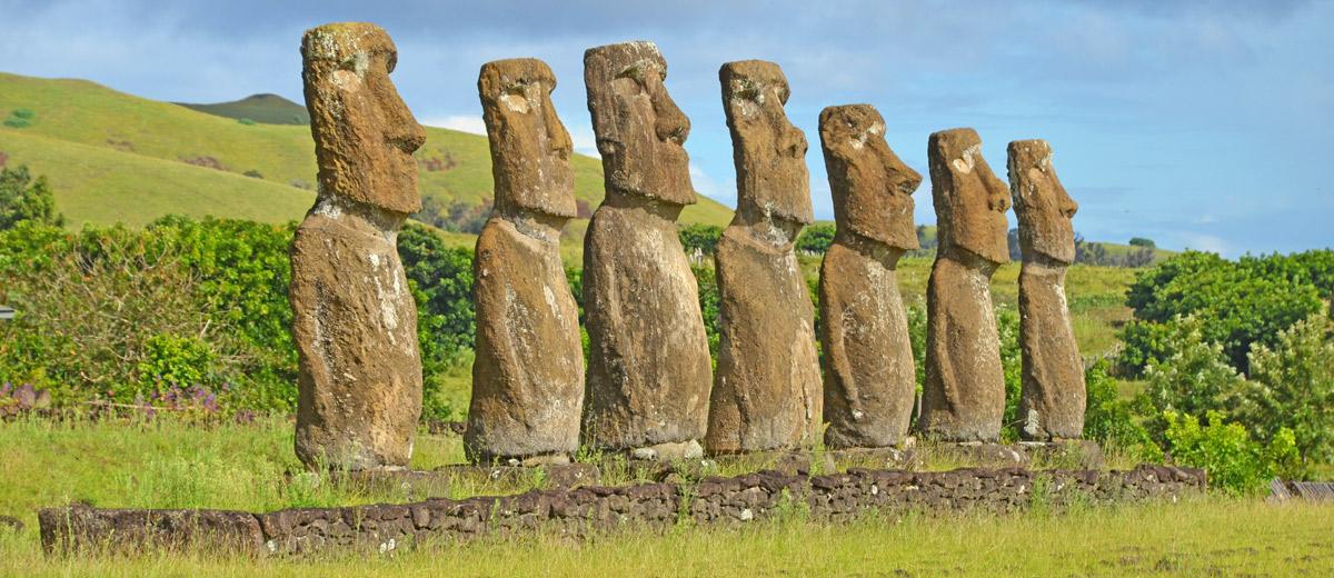 Los 7 moai podrían ser los 7 legendarios exploradores de la tradición oral