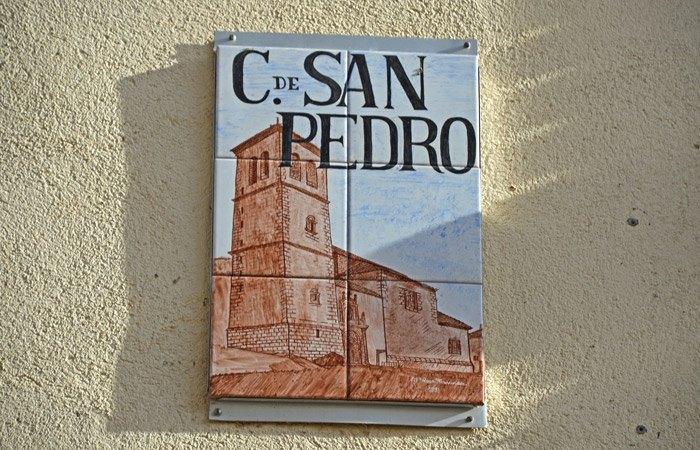 Cartel Calle San Pedro